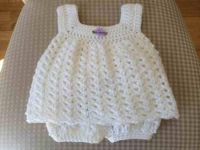 white crochet dress for babies