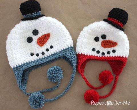 crochet-snowman-hat