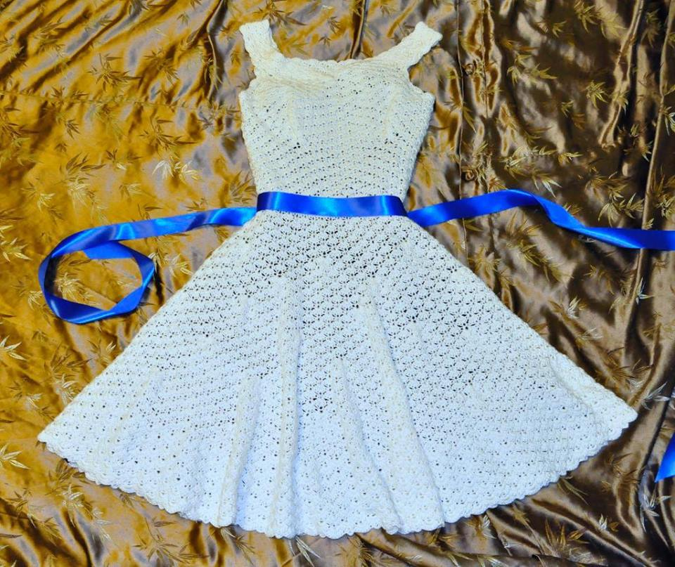 organdy ribbon white dress