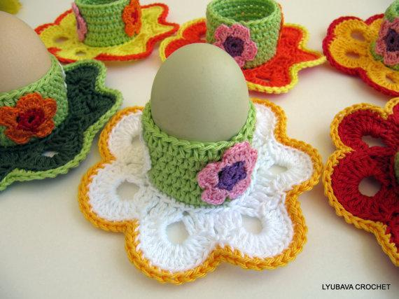Egg Holder Easter Flower Pattern