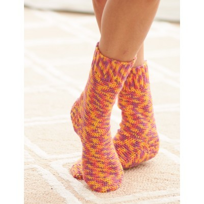 Fun Multicolor Crochet Sock Pattern