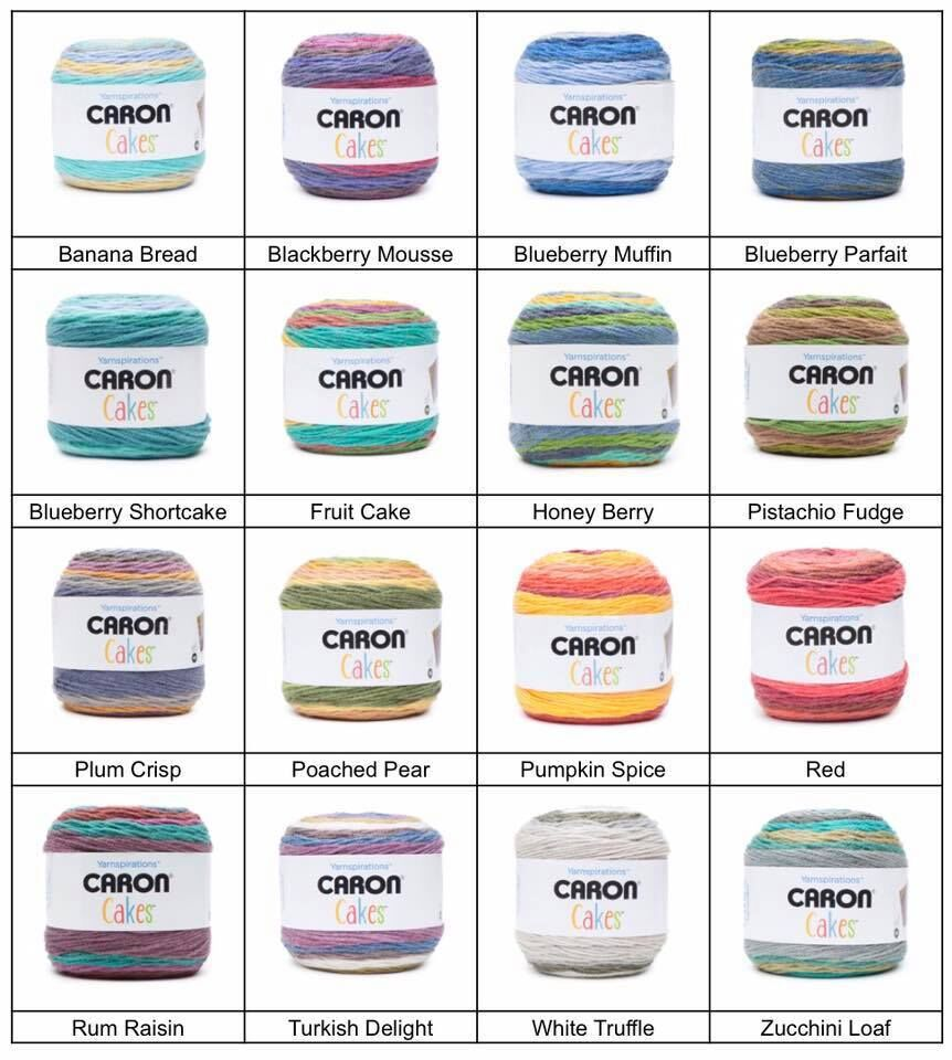 Caron Cakes Fall Colour List