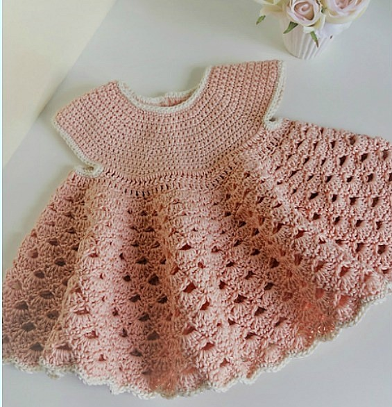 10 Easy Baby Dress Crochet And Knit Patterns American Yarns