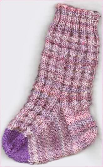 Ribbed Waffle Socks Knitting Pattern