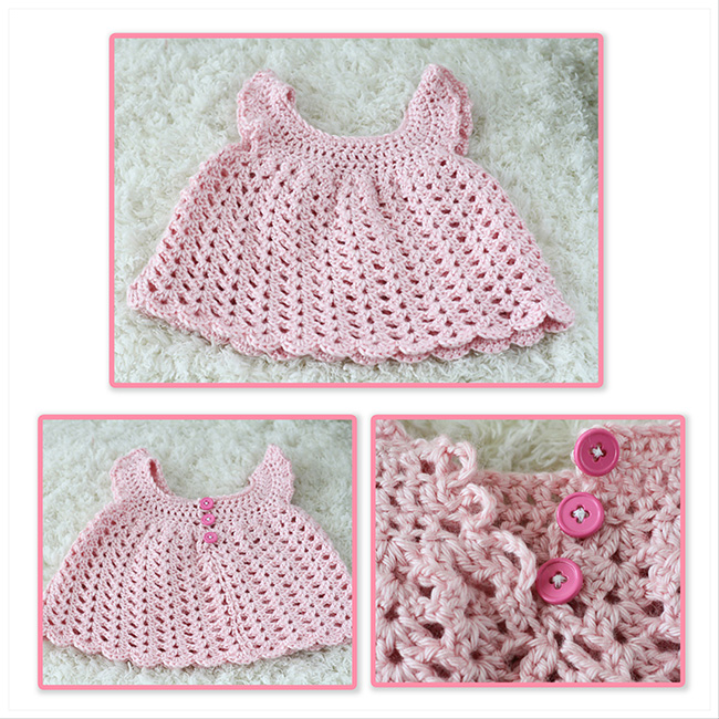 Angel sleeve baby dress