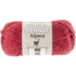 Bernat Alpaca yarn in cherry colour