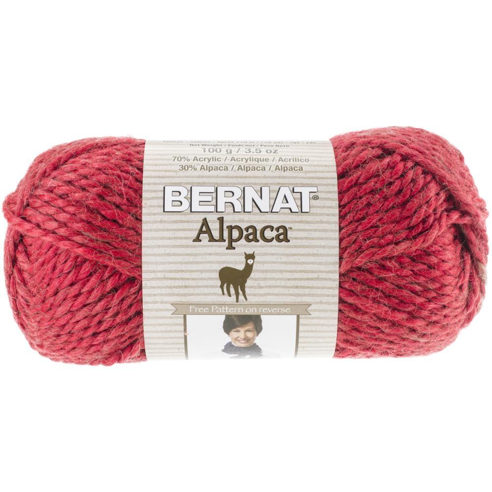 Bernat Alpaca yarn in cherry colour