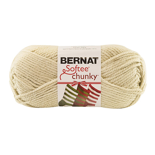 Bernat Softee Chunky Holiday Yarn natural