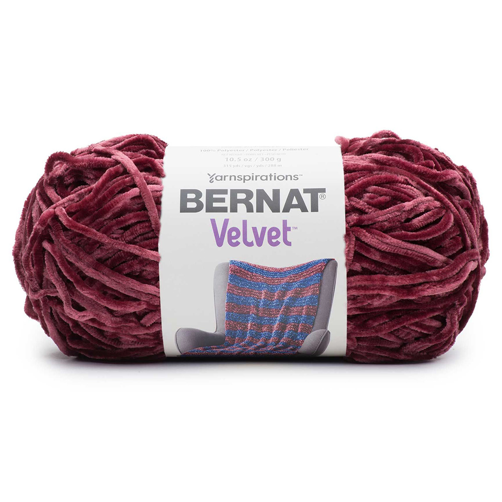 Bernat Velvet Yarn - Burgundy Plum