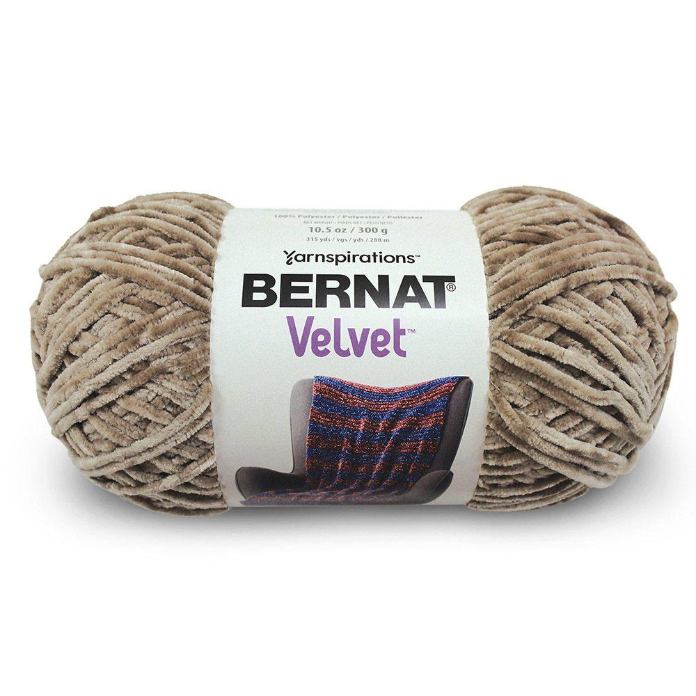 Bernat Velvet Yarn -Mushroom
