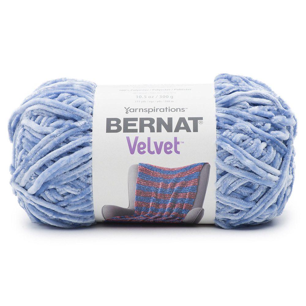 Bernat Velvet Yarn - Smokey Blue