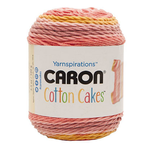 Blushing-melon-Caron-Cotton-Cakes-yarn