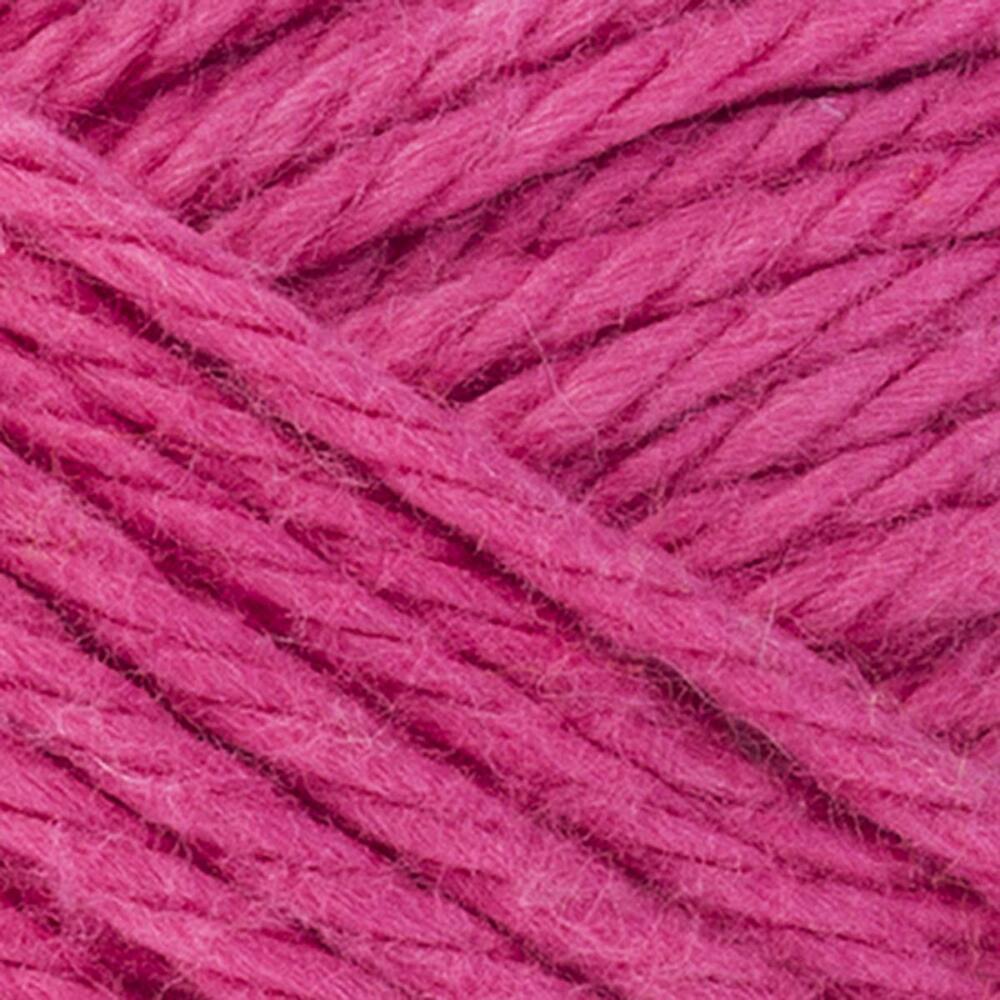 Brite Pink-Red Heart Scrubby Smoothie Yarn-swatch