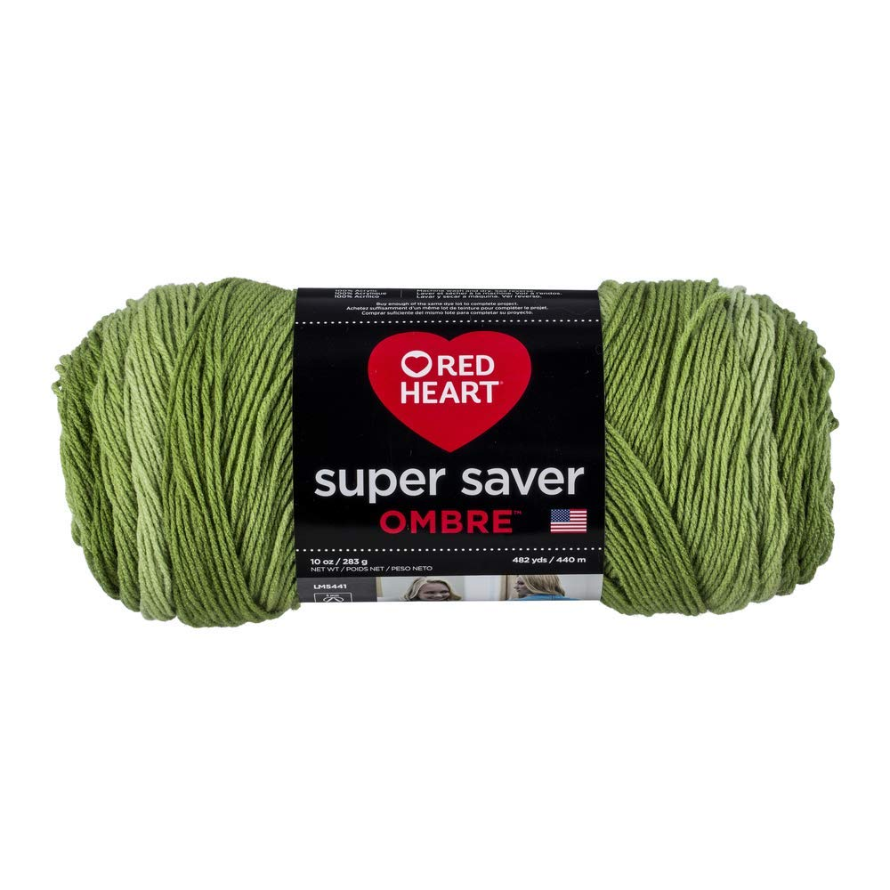 Green Apple - Red Heart Super Saver Ombre Yarn