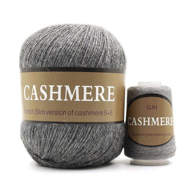 Grey-Cashmere-Natural -Mongolian-yarn