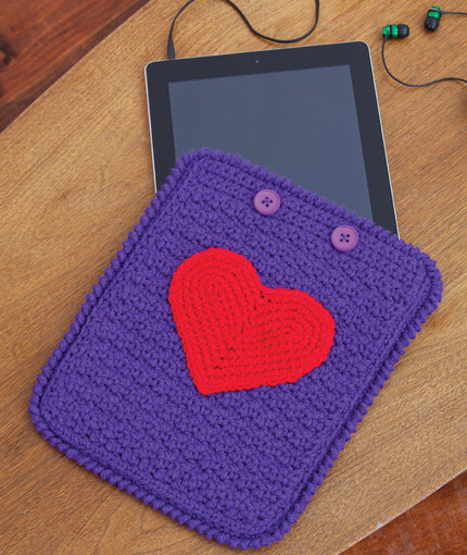 Crochet iPad sleeve - red heart yarns