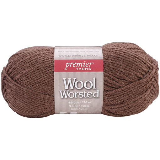 Milk Chocolate Wool Worsted Yarn Premier Yarns