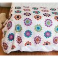 Motif Afghans flower hexagon bed cover