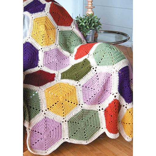 Motif Afghans inner pages Colorful Hexagon pattern