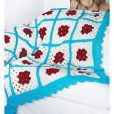 Motif Afghans inner pages blue red squares
