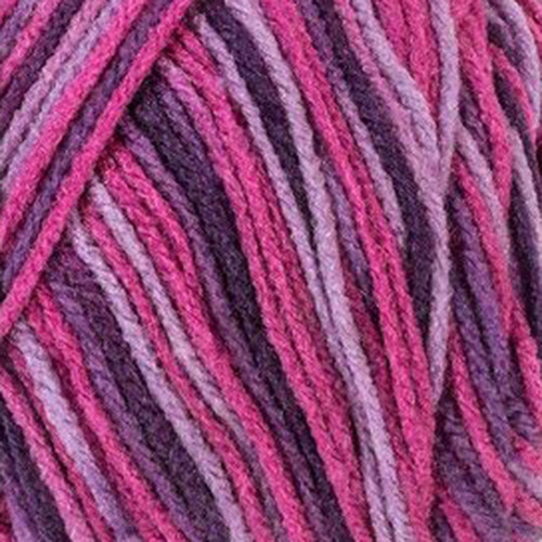 Plum Pudding - red heart super saver stripes