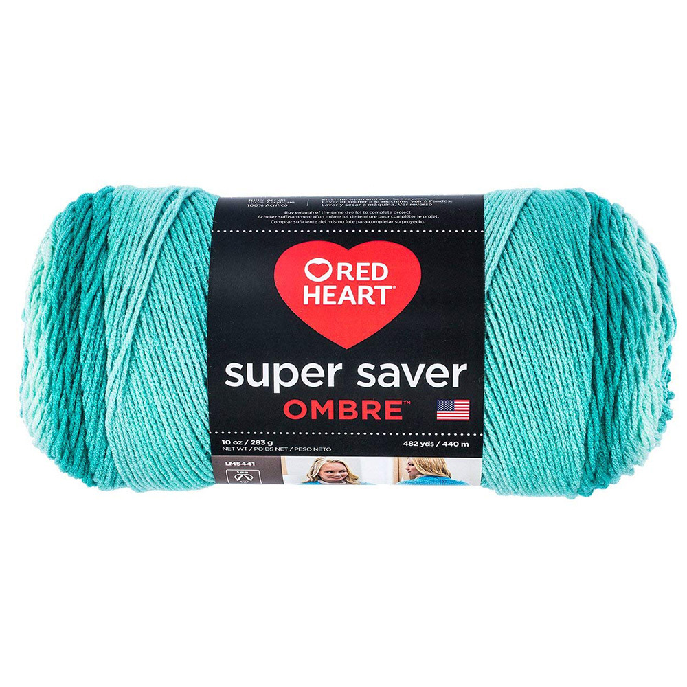 Spearmint-Red Heart Super Saver Ombre