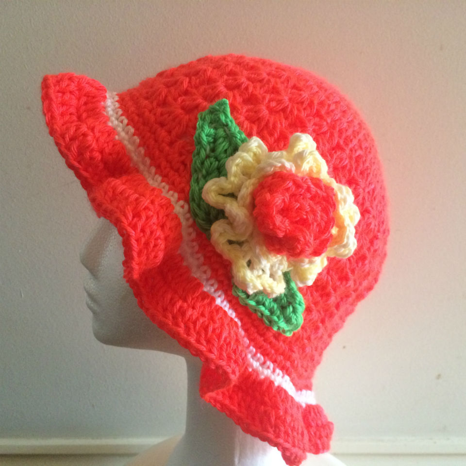 Bright Orange Summer Hat