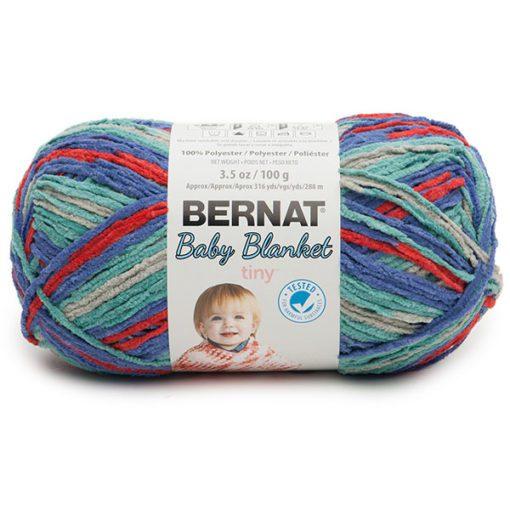 calico quilt-bernat baby blanket tiny