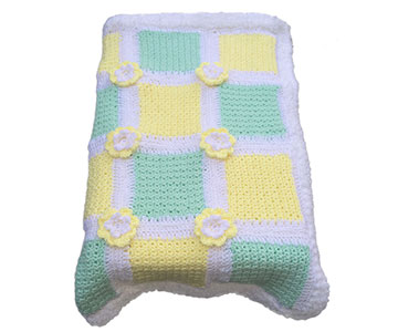 green yellow blanket
