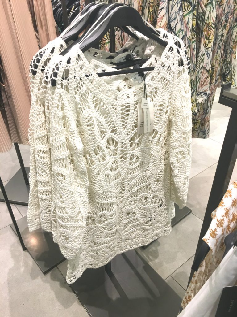 crochet blouse zara