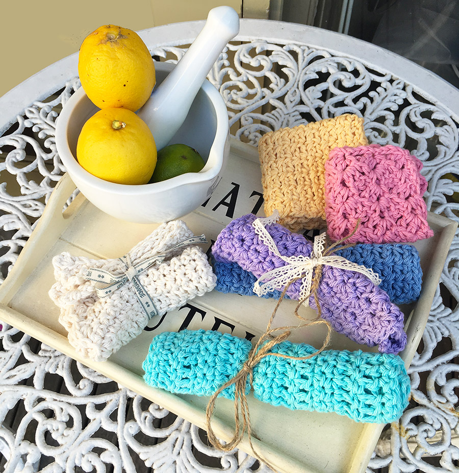 crochet-dish-cloth-rainbow-colors-3