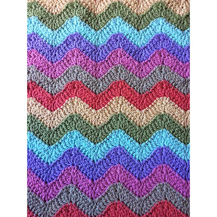 chochet pastel blanket chevron pattern