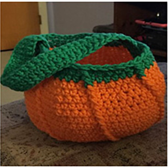 halloween trick or treat bag with green border