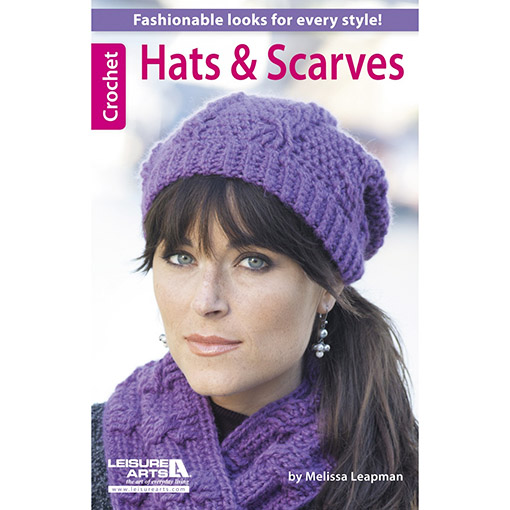 Book Cover Crochet Hat ~ Leisure arts hats and scarves fashionable looks for
