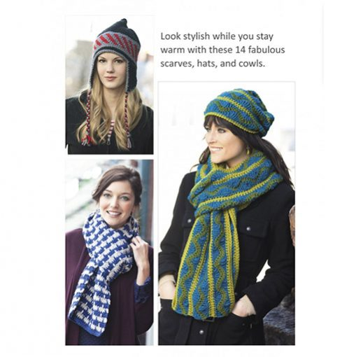 hats & scarves crochet book inner pages 1