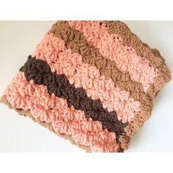 Marshmallow pattern pet blanket pink