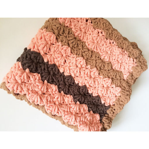 Marshmallow pattern pet blanket pink