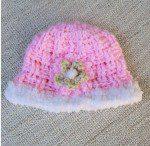 pink baby beanie bernat pipsqueak edge