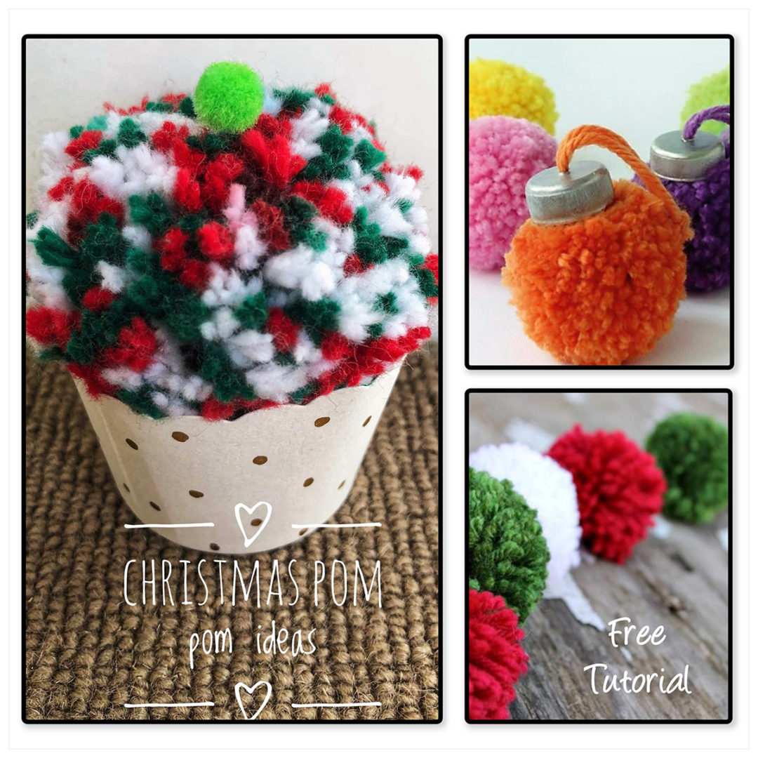 Christmas pom pom decoration