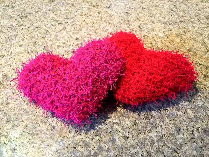 Scrubby Heart Dishcloths American Yarns