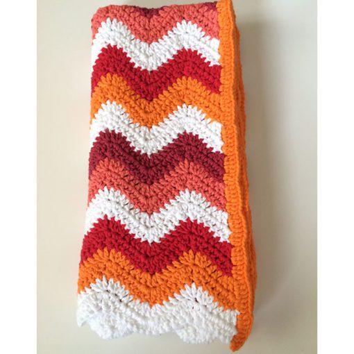 crochet chevron blanket ripple pattern