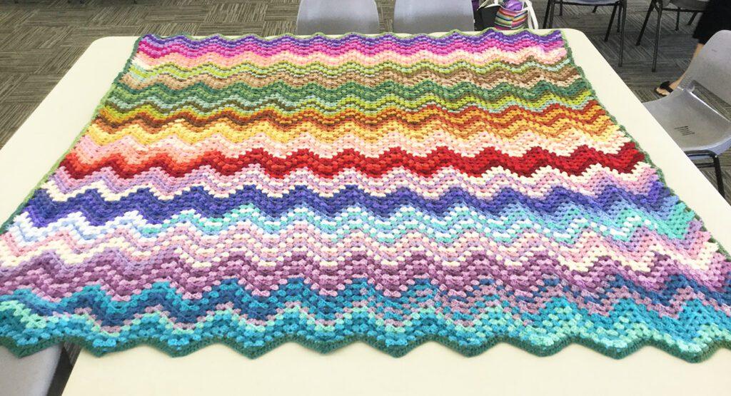 Sweet rolls, ripple blanket - American Yarns